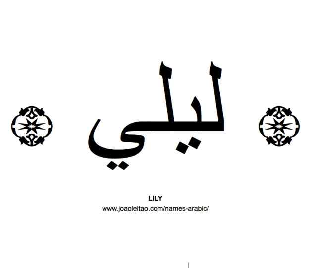 Your Name In Arabic Lily Name In Arabic