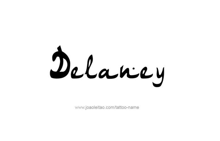Tattoo Design Name Delaney
