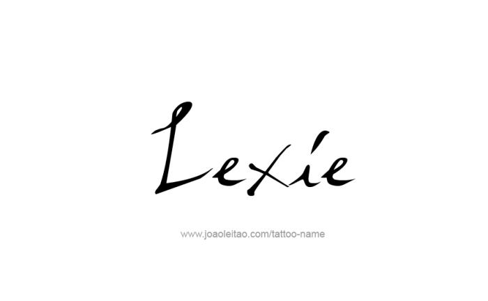 Tattoo Design Name Lexie
