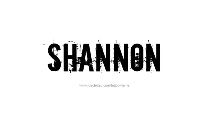 Tattoo Design Name Shannon