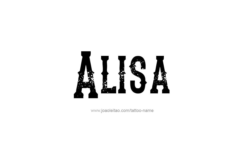 Alisa Name Tattoo Designs