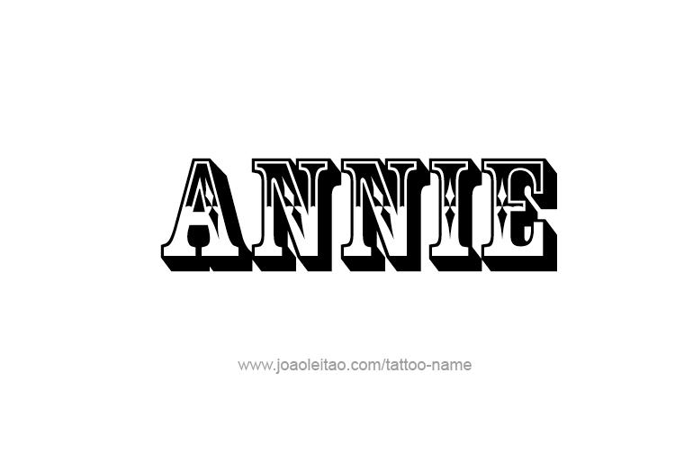 Annie Name Tattoo Designs