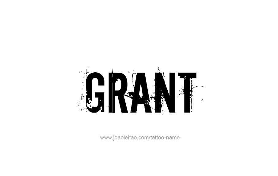 Grant Name Tattoo Designs