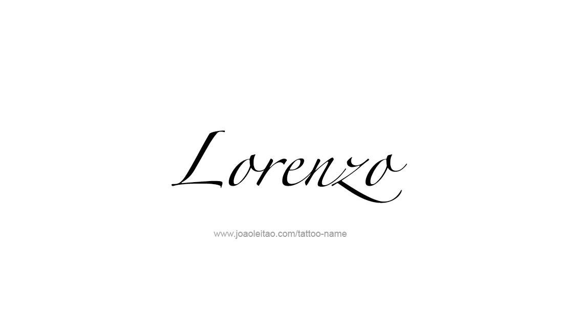 Lorenzo Name Tattoo Designs