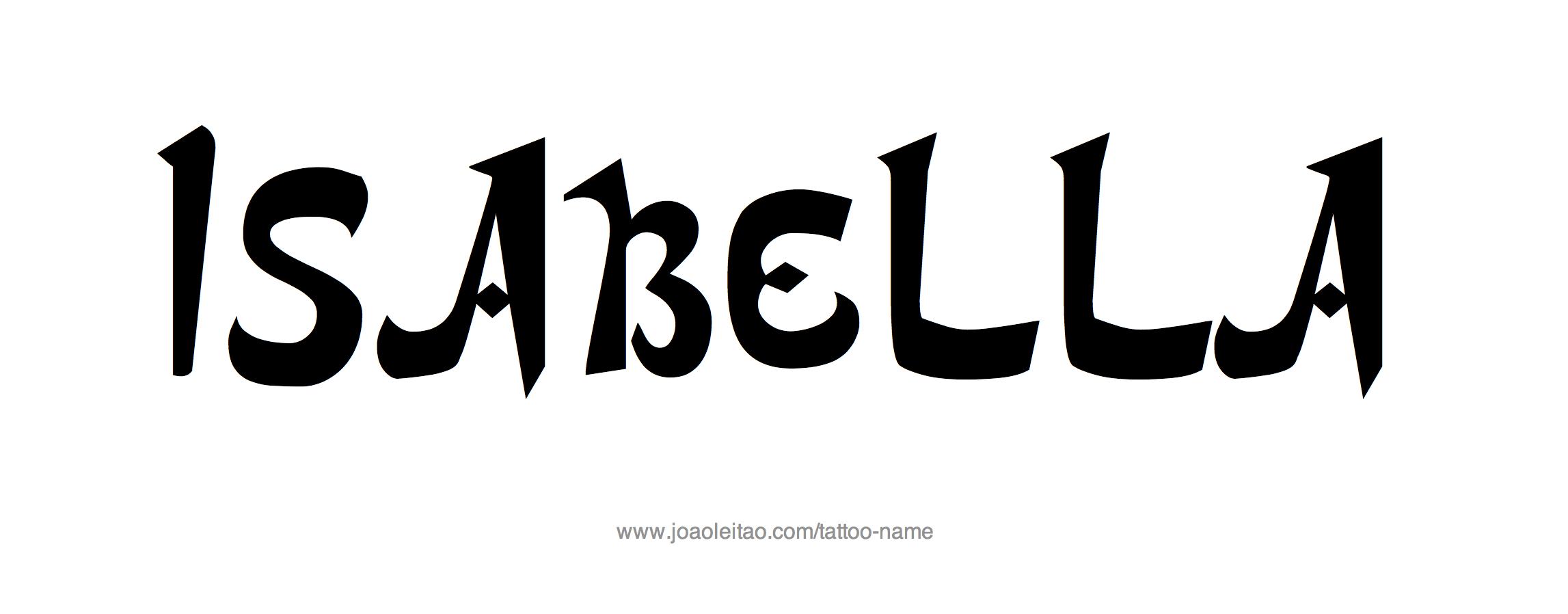 Isabella Name Tattoo Designs