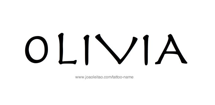 Tattoo Design Name Olivia