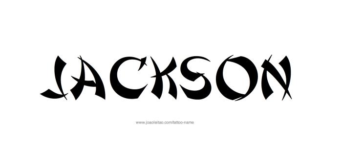 Tattoo Design Name Jackson