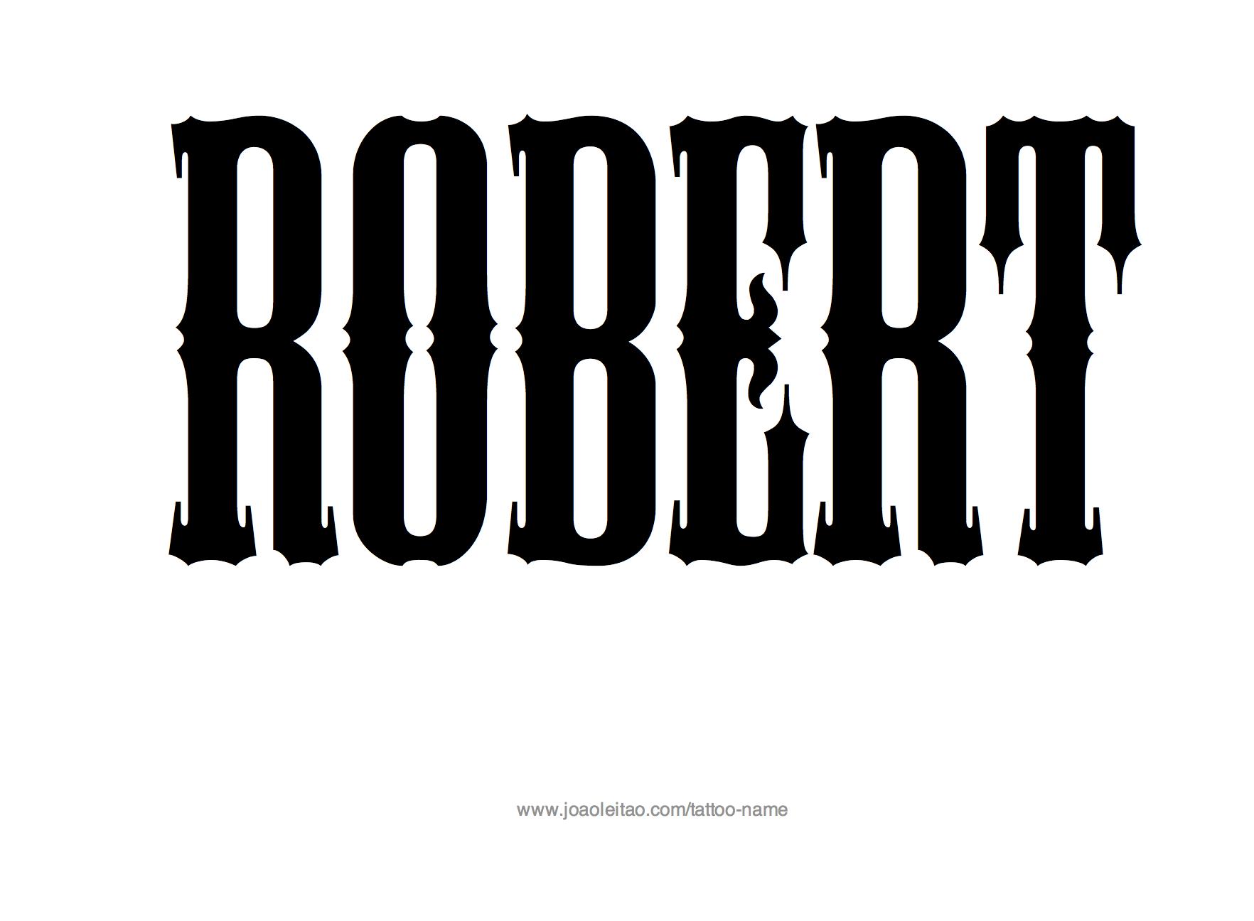 Robert Name Tattoo Designs