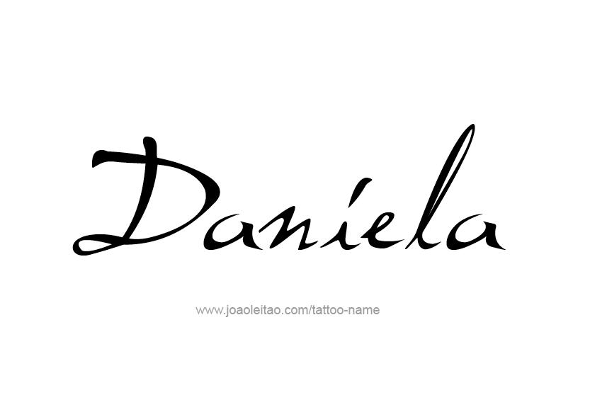 Daniela Name Tattoo Designs