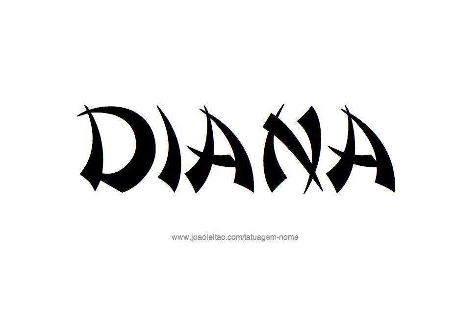 Desenhos de Tatuagem com o Nome Diana