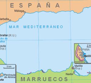 Mapa europa com espanha portugal marrocos e gibraltar
