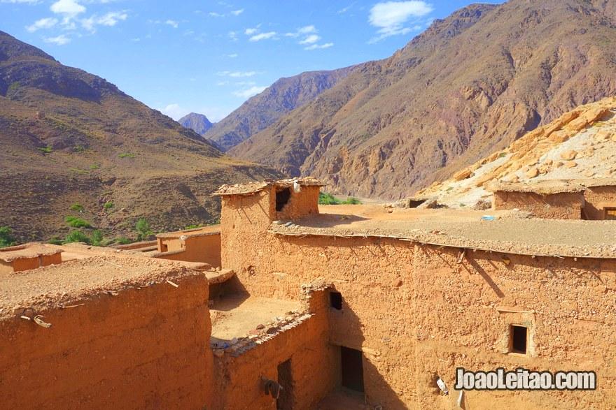 Aldeia de Aguerzga na região de Ouarzazate