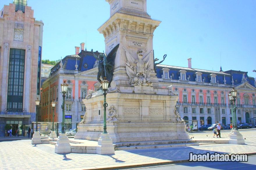 Foto da Praça dos Restauradores em Lisboa