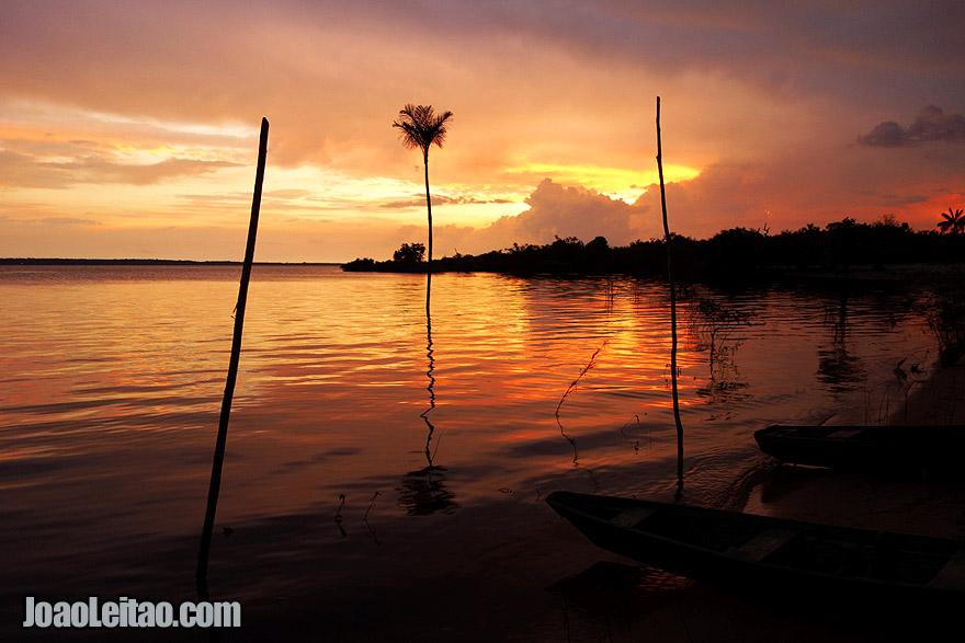 Por do Sol no Rio Grande, Amazonas