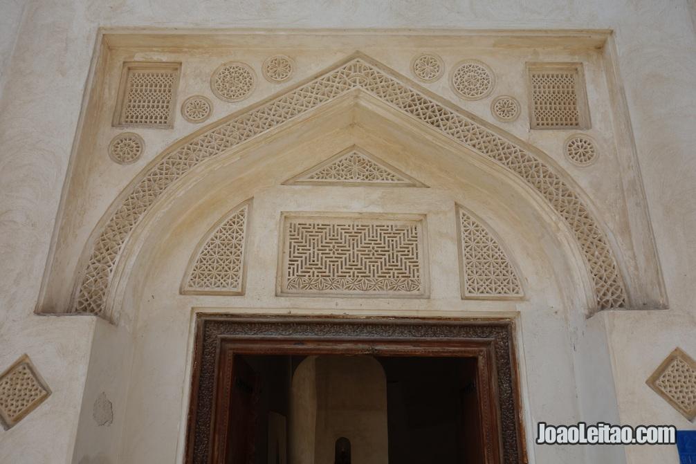 Decoração de porta na casa do Shaikh Isa Bin Ali em Murharraq no Barein