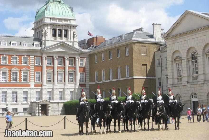 Render da guarda em Londres
