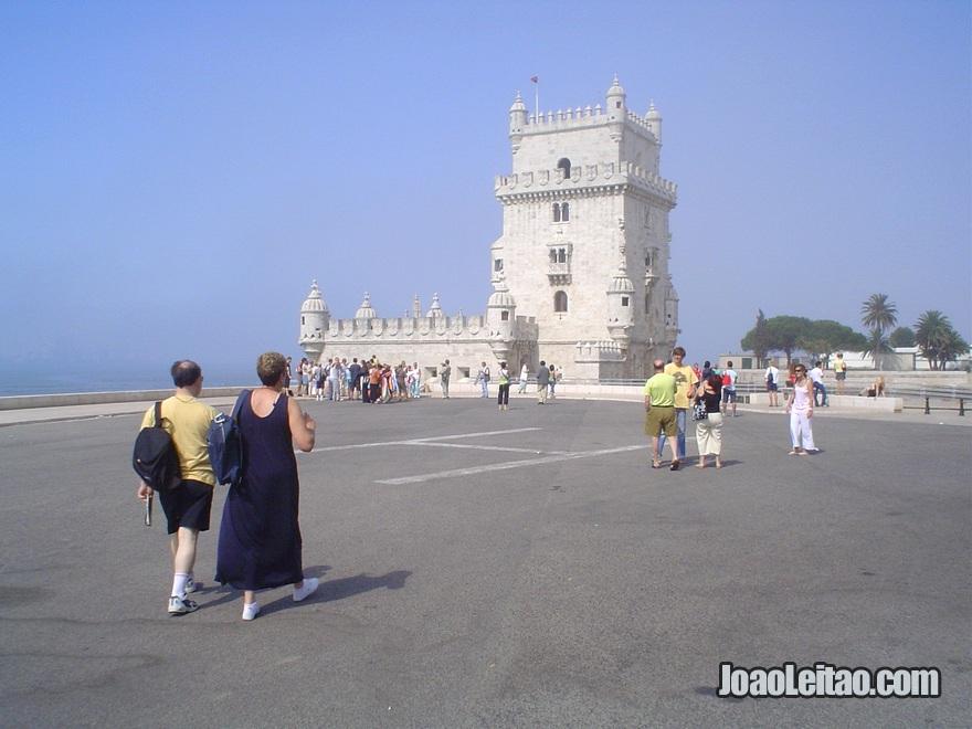 O monumento da Torre de Belém em Lisboa