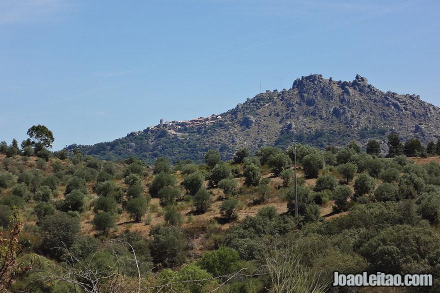 Vista da colina de Monsanto em Portugal