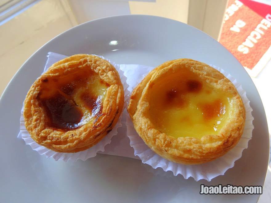 Pastel de nata na Pastelaria Delícias da Freguesia em Ribeirão da Ilha