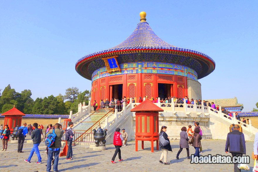 Foto do edifício principal do Templo do Céu