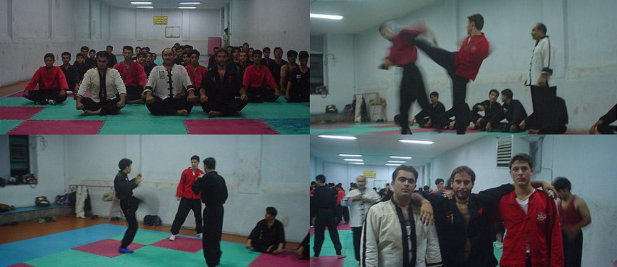 Treino de Kung-Fu no Irão