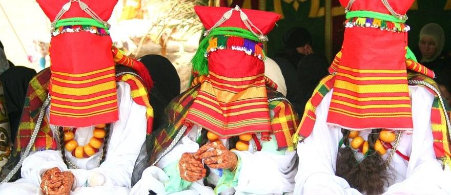Casamento berbere na aldeia de Hassilabied, deserto do Sahara
