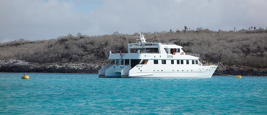 Passeio de Catamaran nos Galápagos