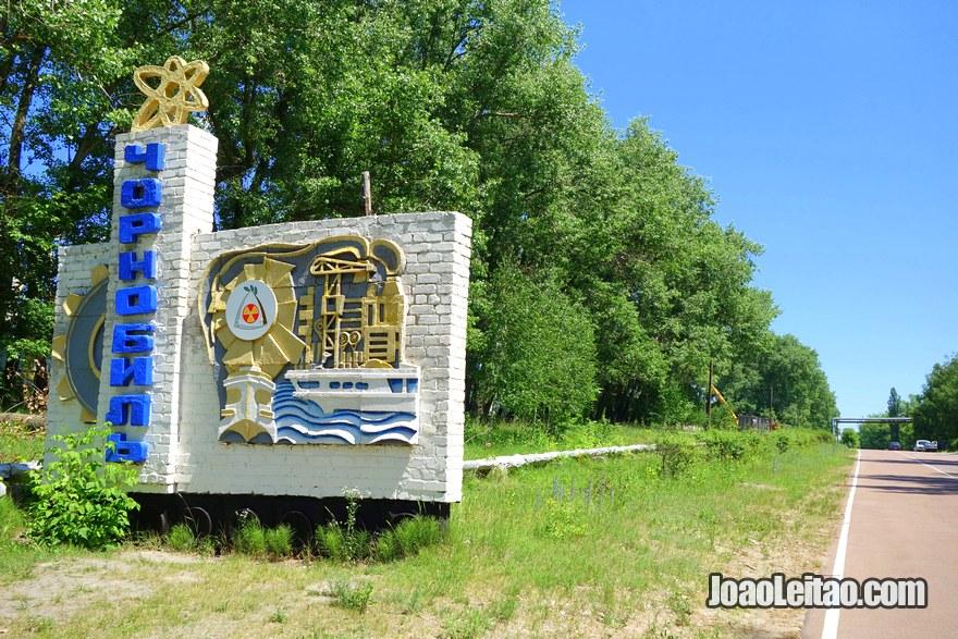 Chernobyl Entrance Road Sign Ukraine