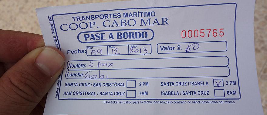 Bilhete de lancha rápida de Puerto Ayora para a Ilha de San Cristóbal