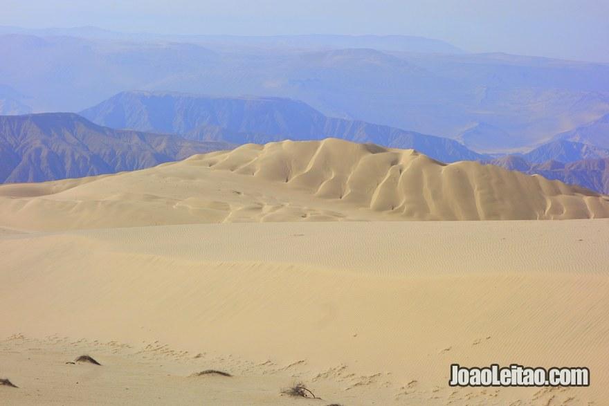 Peruvian mountain desert from the top of Cerro Blanco Dune
