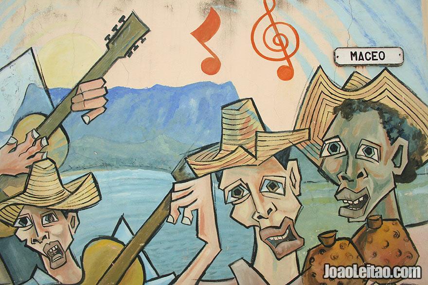 Baracoa street art or wall graffiti
