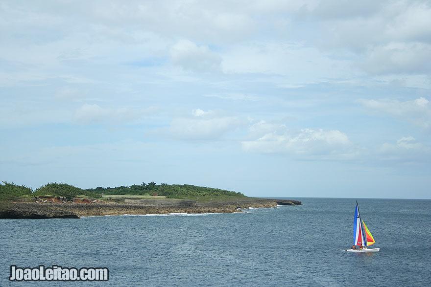 Sailing boat in Baracoa