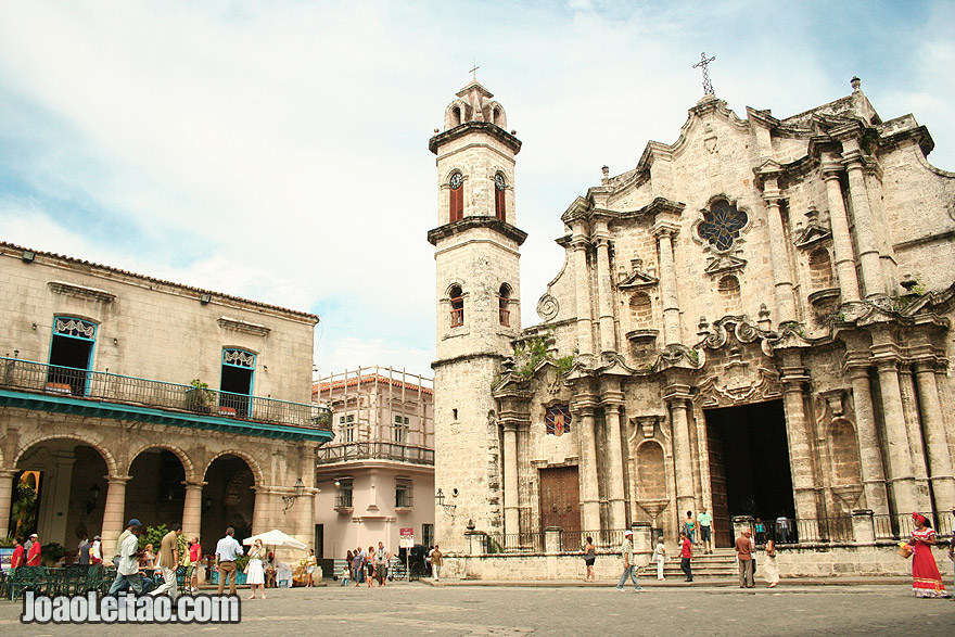Havana Cathedral in Plaza De Armas