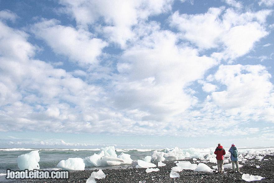 Jokulsarlon Glacier lagoon and iceberg beach