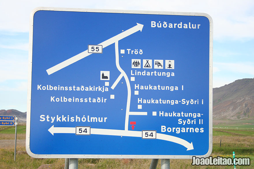 Road sign in Iceland