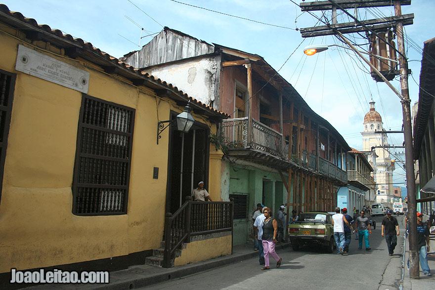 Traditional building in Santiago de Cuba