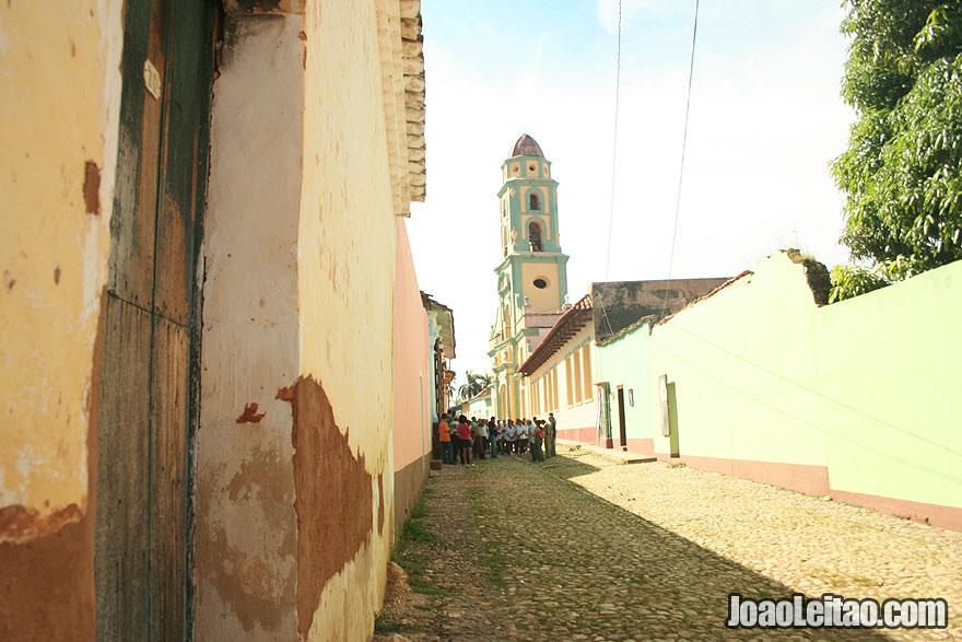 Children out of school near San Francisco Church in Trinidad