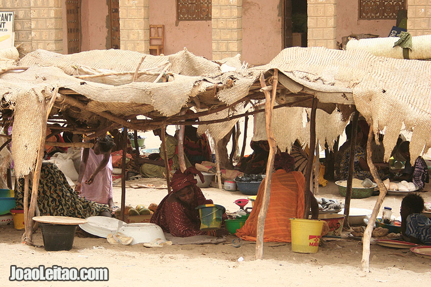 Malian Women selling in Timbuktu street market
