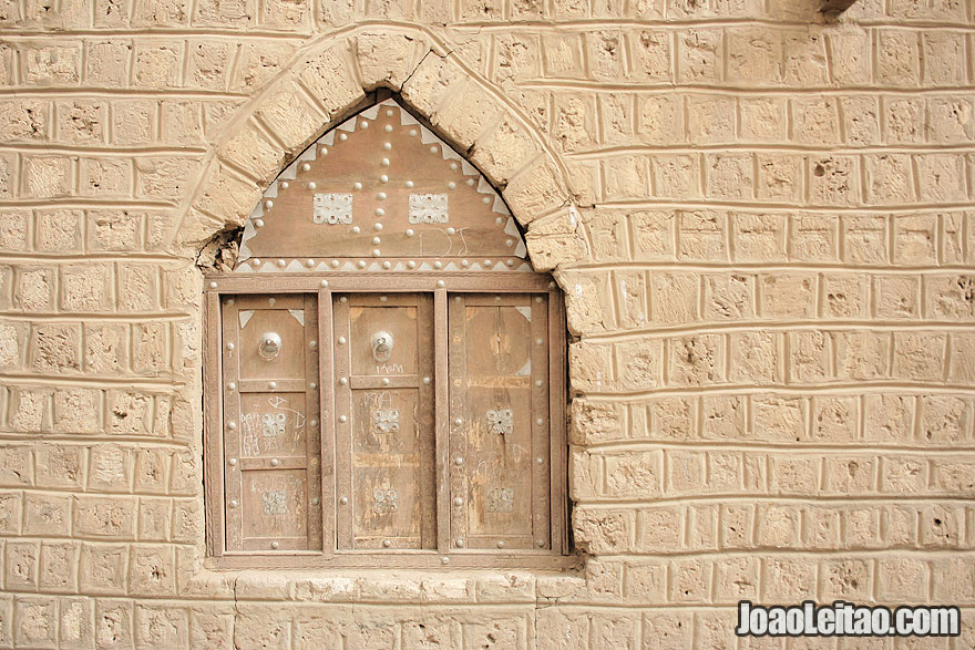 Wooden decorated window