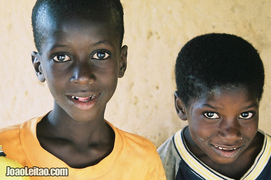 African boys in Ndioum village, Senegal