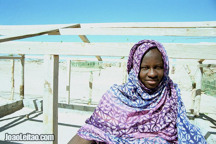 Girl in Nouamghar fishermen village, Islamic Republic of Mauritania