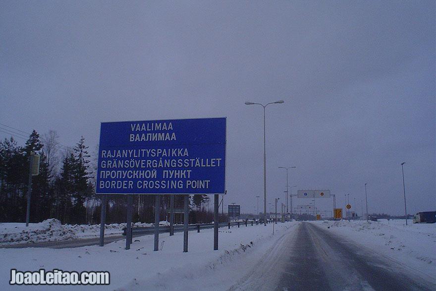 Fronteira entre a Finlândia e a Rússia, do lado finlandês side