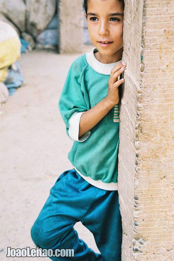 Photo of young boy in Rissani market, Morocco