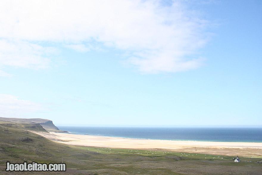 Hvallatur Sand Beaches Westfjords Region Iceland