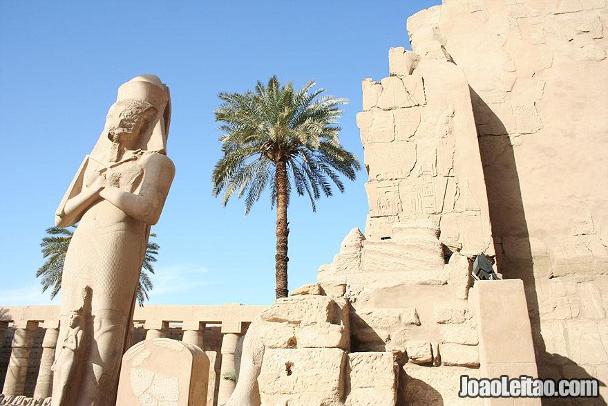 Statue inside Luxor Karnak temple