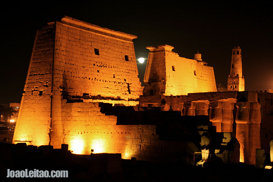 Beautiful night view of the Luxor Temple