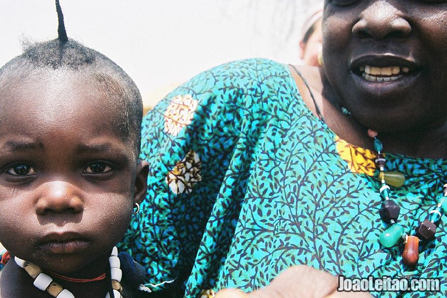Mother and Child in village near Mali border, Senegal