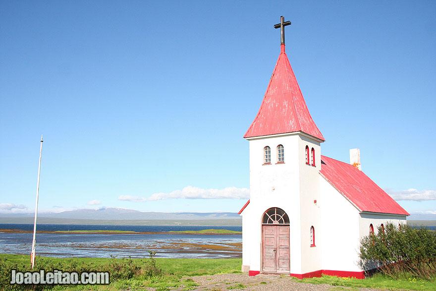 Visit Prestbakki Church Hrutafjordur, Northwestern Region Iceland