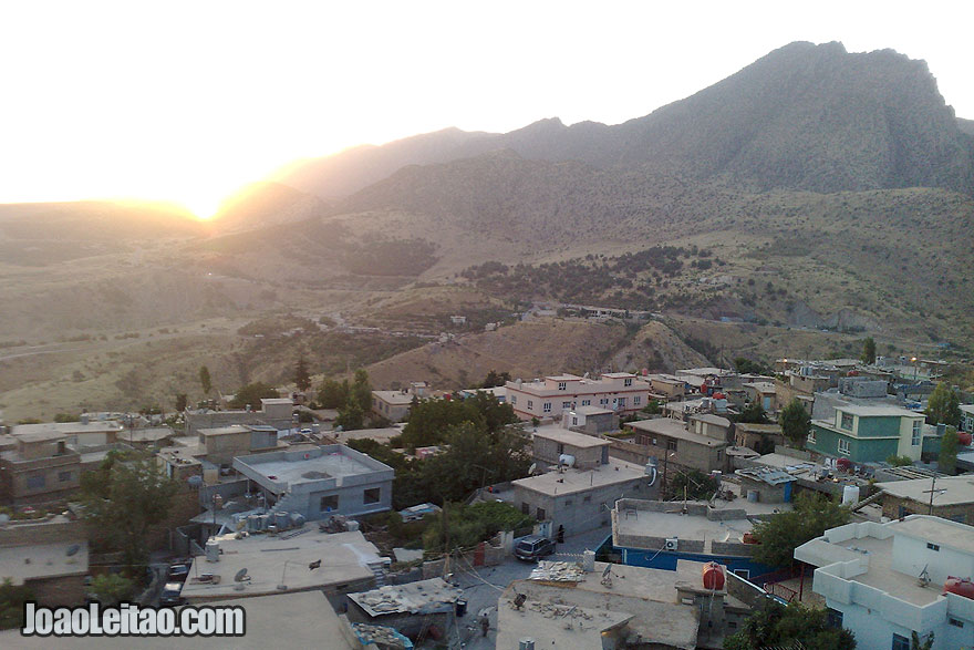 Sunset view from the top of the 500-year-old minaret
