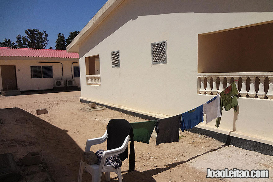 Clothes hanging dry after proper washing in my hotel in Berbera beach, Somaliland